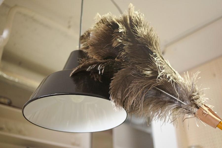 lamp dusting